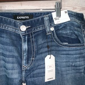 Express Barely Boot Low Rise Jeans 14 NEW